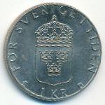 Швеция, 1 крона (1989 г.)