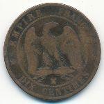 Франция, 10 сентим (1856 г.)