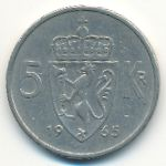 Норвегия, 5 крон (1965 г.)