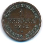 Мекленбург-Шверин, 1 пфенниг (1872 г.)