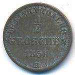 Ольденбург, 1/2 гроша (1858 г.)