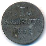 Гамбург, 1 сешлинг (1855 г.)
