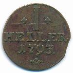 Гессен-Кассель, 1 геллер (1793 г.)