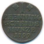 Брауншвейг-Вольфенбюттель, 1 пфеннинг (1799 г.)