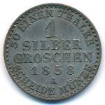 Пруссия, 1 грош (1858 г.)