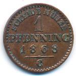 Пруссия, 1 пфеннинг (1868 г.)