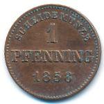 Бавария, 1 пфеннинг (1858 г.)