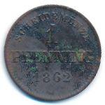 Бавария, 1 пфеннинг (1862 г.)