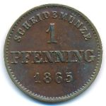 Бавария, 1 пфеннинг (1865 г.)