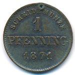 Бавария, 1 пфеннинг (1871 г.)