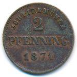 Бавария, 2 пфеннинга (1871 г.)