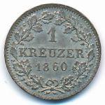 Бавария, 1 крейцер (1860 г.)