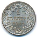 Бавария, 1 крейцер (1865 г.)