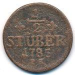 Юлих-Берг, 1/2 стюбера (1785 г.)