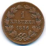 Баден, 1 крейцер (1856 г.)