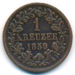 Баден, 1 крейцер (1859 г.)