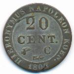 Вестфалия, 20 сентим (1808–1812 г.)
