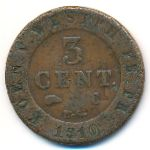 Вестфалия, 3 сентима (1810 г.)