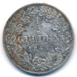 Бавария, 1/2 гульдена (1845 г.)