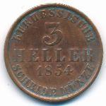 Гессен-Кассель, 3 геллера (1854 г.)