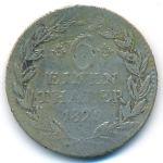 Гессен-Кассель, 1/6 талера (1829 г.)