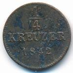 Вюртемберг, 1/4 крейцера (1842 г.)