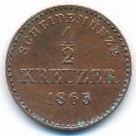 Вюртемберг, 1/2 крейцера (1865 г.)