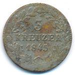 Вюртемберг, 3 крейцера (1845 г.)
