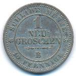 Саксония, 1 новый грош (1863 г.)