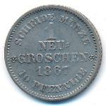 Саксония, 1 новый грош (1867 г.)