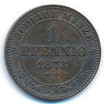 Саксония, 1 пфенниг (1873 г.)