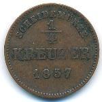 Шварцбург-Рудольфштадт, 1/4 крейцера (1857 г.)