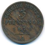Пруссия, 3 пфеннинга (1870 г.)