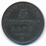 Пруссия, 3 пфеннинга (1872 г.)