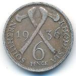 Южная Родезия, 6 пенсов (1936 г.)