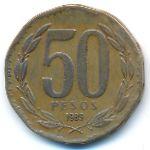 Чили, 50 песо (1989 г.)