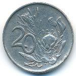 ЮАР, 20 центов (1972 г.)