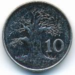 Зимбабве, 10 центов (2001 г.)