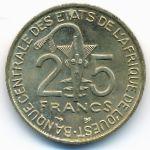 Западная Африка, 25 франков (1997 г.)