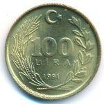 Турция, 100 лир (1991 г.)