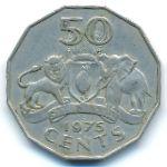 Свазиленд, 50 центов (1975 г.)