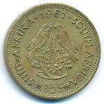 ЮАР, 1/2 цента (1961 г.)