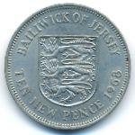 Джерси, 10 новых пенсов (1968 г.)