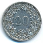 Швейцария, 20 раппенов (1913 г.)