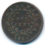 Саравак, 1 цент (1886 г.)