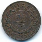 Ньюфаундленд, 1 цент (1873 г.)