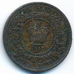 Новая Шотландия, 1 цент (1861 г.)