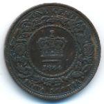 Новая Шотландия, 1 цент (1864 г.)