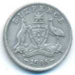Австралия, 6 пенсов (1936 г.)