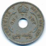 Британская Западная Африка, 1 пенни (1914 г.)